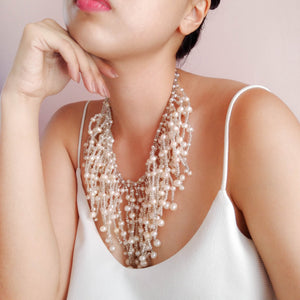 Pearl Waterfall Necklace (For pre-order)