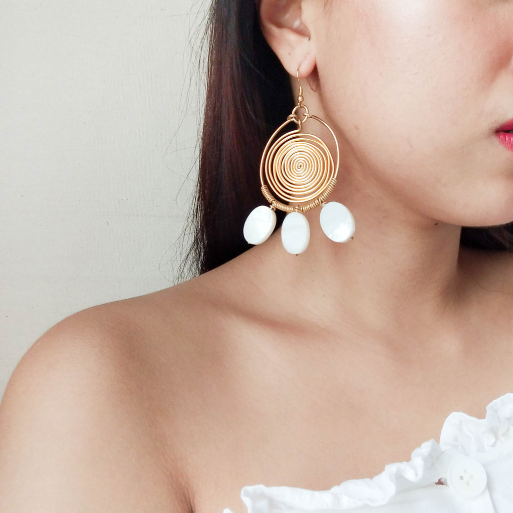 Shell Swirl Earrings