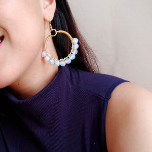 Festive Semi Precious Hoops (Available in other colors)