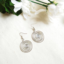 Load image into Gallery viewer, Wire Swirl Drop Earrings