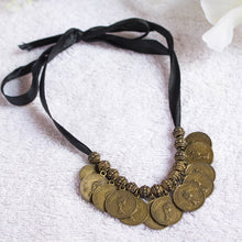 Load image into Gallery viewer, Regina Bohemian Coin Necklace