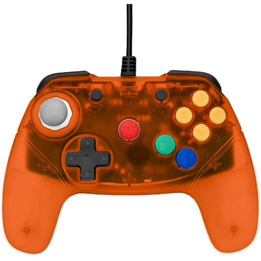 Brawler64 - N64 Controller (Orange) - Games Connection