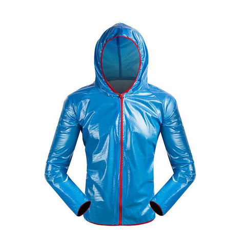 Blue Waterproof Cycling Jacket