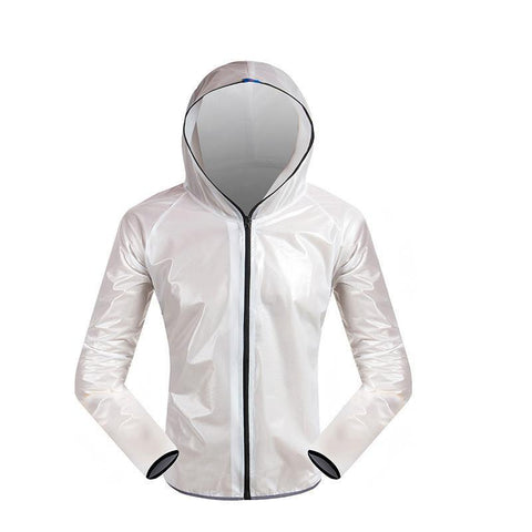 White Waterproof Cycling Jacket