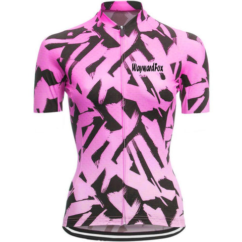 Pink Cycling Jersey for Women