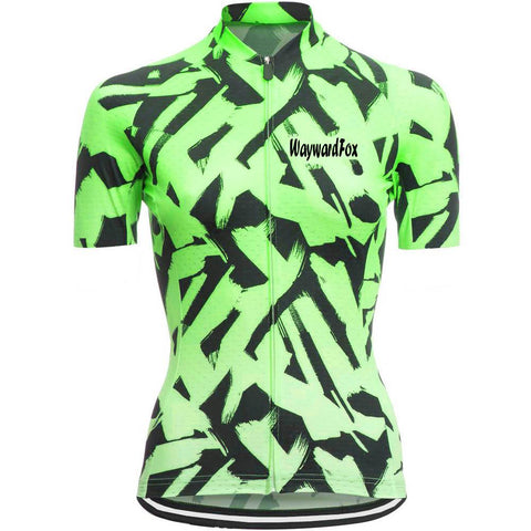 Green Cycling Jersey for Women
