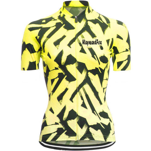 Yellow Cycling Jersey for Women