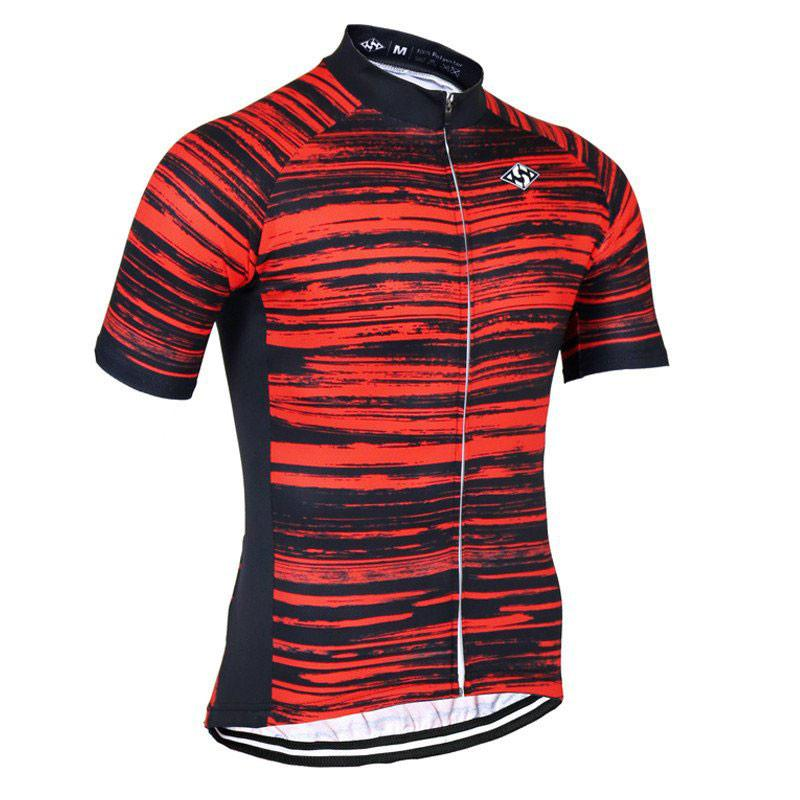 Beautiful Red Cycling Jersey - The Cycling Fever - 1