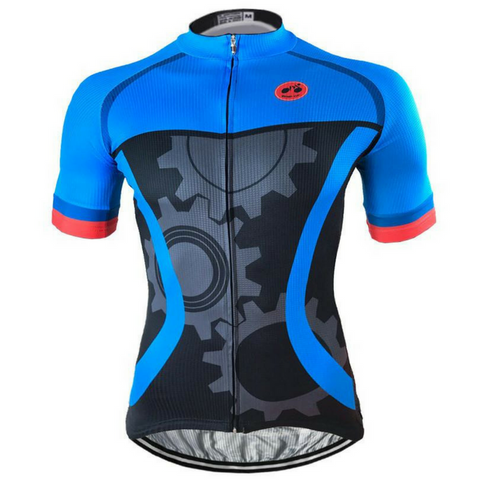 Blue Mechanical Cycling Jersey