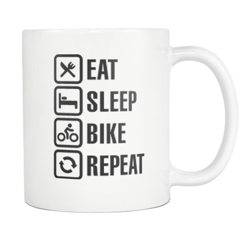 Eat Sleep Bike Repeat Mug