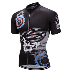 Mechanical Black Skull Cycling Jersey