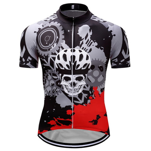 Skull with Helmet Cycling Jersey