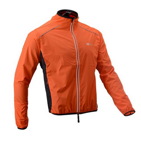 Long Sleeve Orange Rock Cycling Jacket