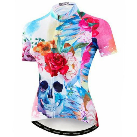 Happy Skull Cycling Jersey for Women