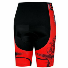 Rider Red Cycling Shorts for Women