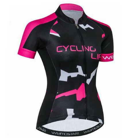 Puzzle Cycling Jersey for Women