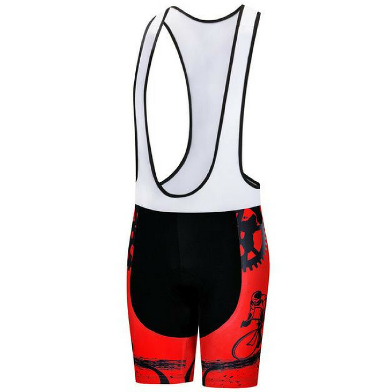Rider Red Cycling Bib Shorts for Women