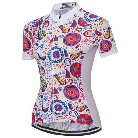 Abstract Cycling Jersey for Women