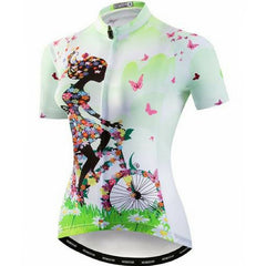 Bicycle Butterflies Cycling Jersey for  Women