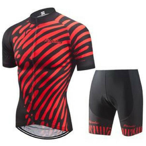 Red Zebra Cycling Jersey Set