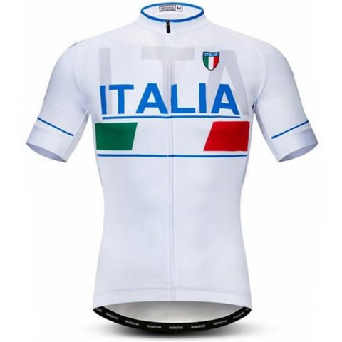 White Italia Team Cycling Jersey