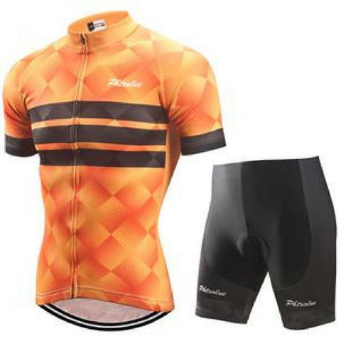 Orange Cycling Jersey Set