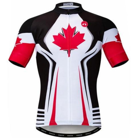 White Canada Team Cycling Jersey