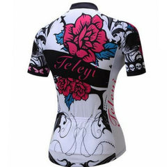 Pink Rose Cycling Jersey for Women