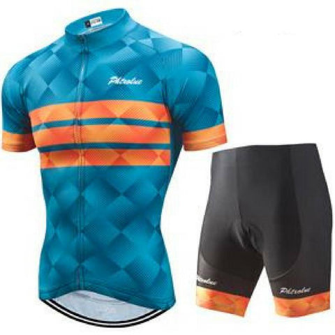 Blue Cycling Jersey Set