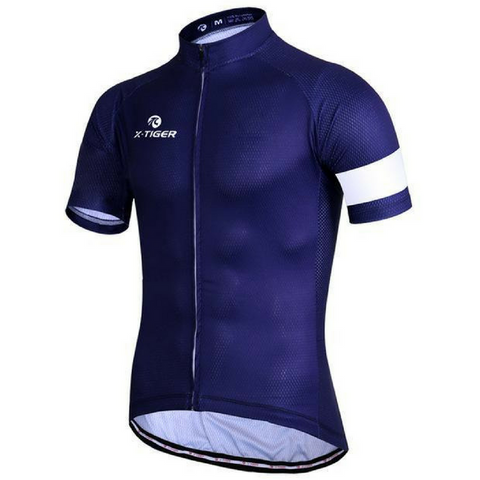 Blue Blocks Cycling Jersey