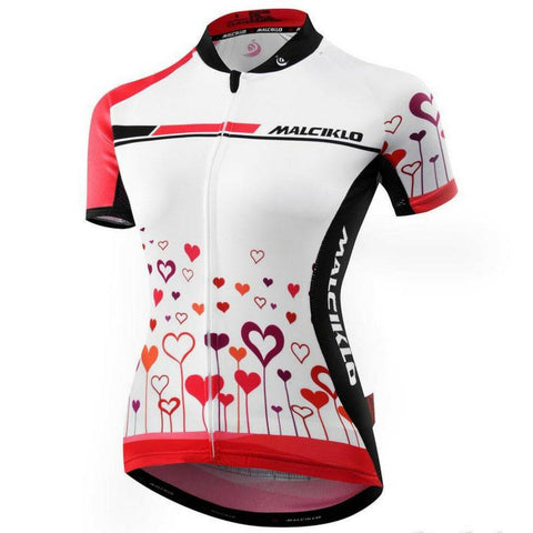 Hearts Cycling Jersey for Women