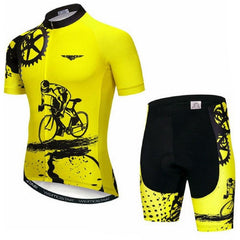 Yellow Cycling Jersey Set