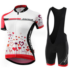 Women's Hearts Cycling Wear Set