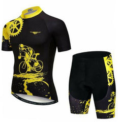 Black Cycling Jersey Set