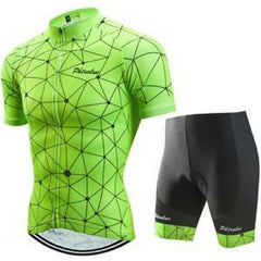 Fluorescent Green Cycling Jersey Set