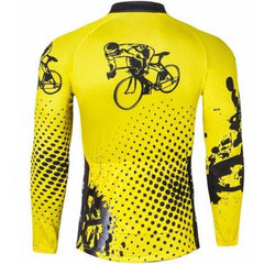 Yellow Long Sleeve Cycling Jersey