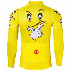 Funny Yellow Face Long Sleeve Cycling Jersey