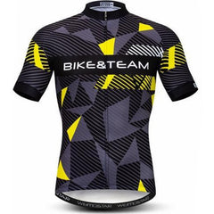 Gray & Yellow Cycling Jersey