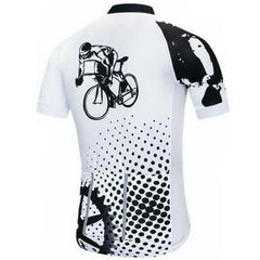 White Cycling Jersey Set
