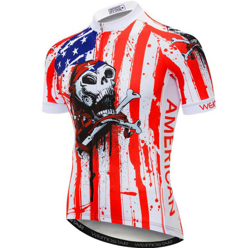 USA Pirate Skull Cycling Jersey
