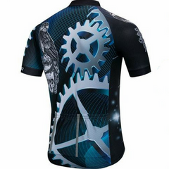 Blue Skull Eagle Cycling Jersey