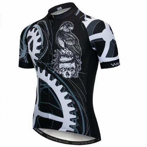 Black Skull Eagle Cycling Jersey