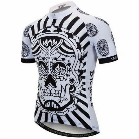 Skull On Fire Cycling Jersey