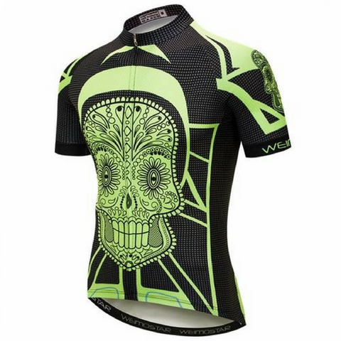 Crazy Yellow Skull Cycling Jersey