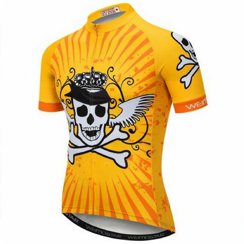 Yellow King Of Skulls Cycling Jersey