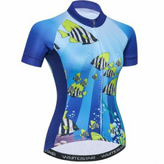 Blue Sea Cycling Jersey for Women