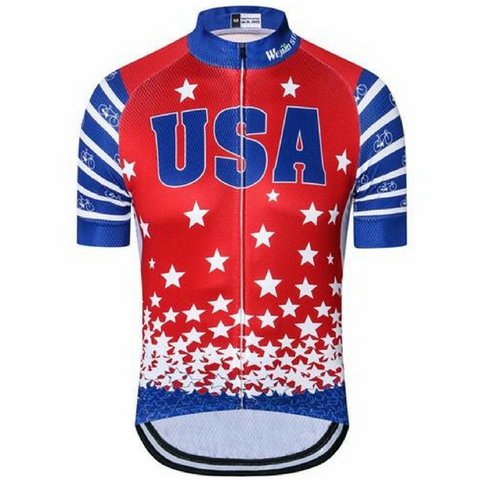 USA Red Cycling Jersey