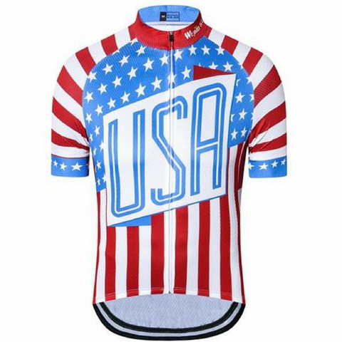 Blue USA Eagle Cycling Jersey