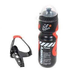 Water Bottle With Plastic Glass Fiber Holder - The Cycling Fever - 1