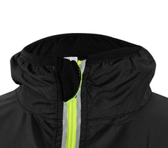 Long Sleeve Black & Green Rock Cycling Jacket